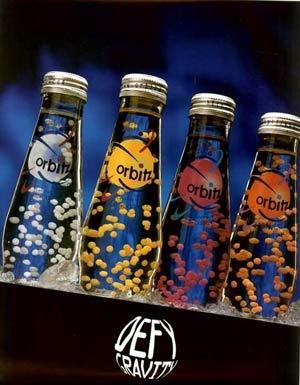 Orbitz drink with floating gelatin balls #90s
