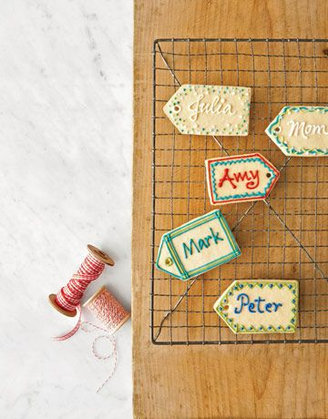 Sugar Cookie Name Tags - Country Living