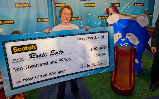 Rosie Sato, Winner of the 2011 Most Gifted Wrapper contest!