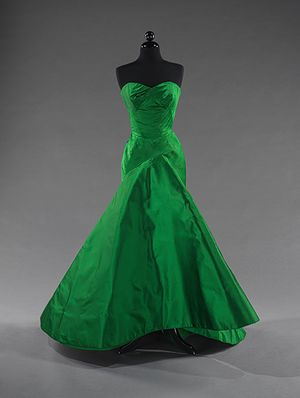 50s emerald green ball gown