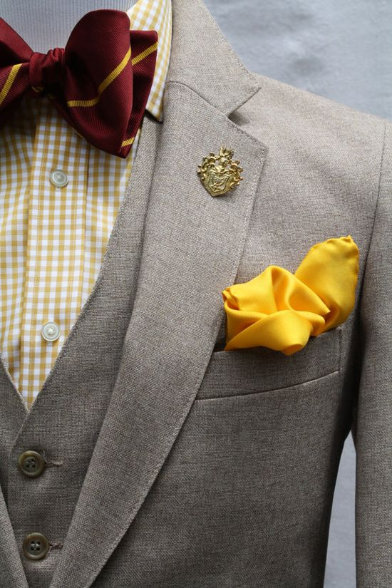 Mens Vintage 3 Piece Suit by ViVifyVintage #groom #wedding ... I do like the bow tie, but think a matching yellow tie would be better! nice suit tho