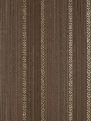 Schumacher Wallpaper Bayberry Stripe-Truffle $67.50 per yard #interiors #decor #brownwallpaper #monochromatic