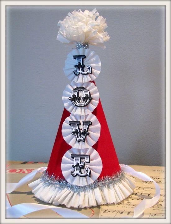 valentine party hat