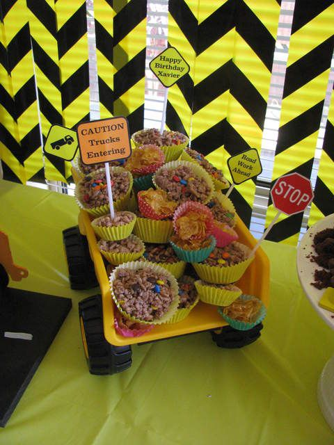 Construction Party Treats in a Dump Truck