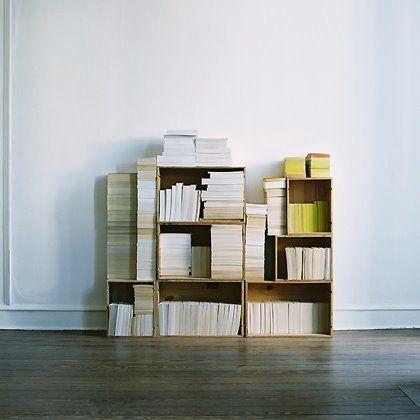 Books cases.