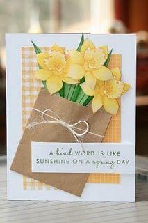 Paper Bag Flower Card