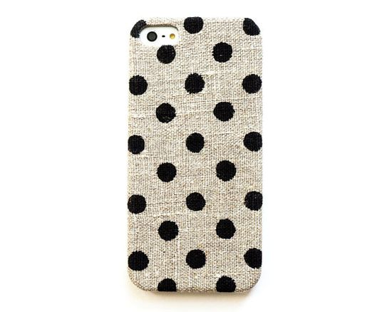 OBSESSED! Dot iPhone 5 case iPhone 4s case Linen by STARCREATUREstudio, $22.99