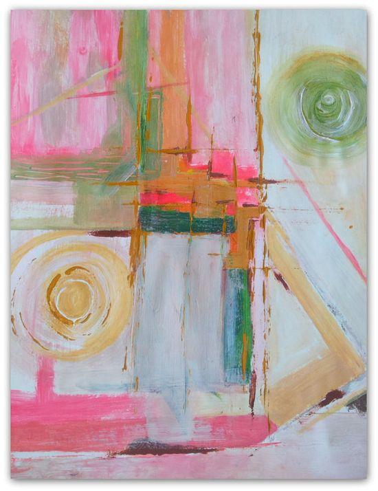 Bla Bla Bla Abstract Painting by NatureWhisper on Etsy, $40.00