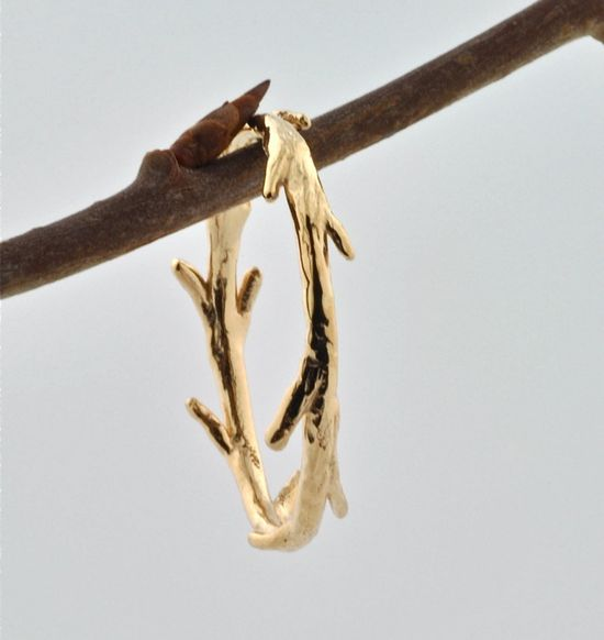 14k Gold Twig Ring by colbyjune, $250.00.