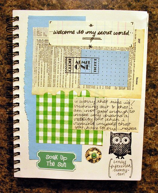 Welcome to my world - like the layering. #scrapbook #journal