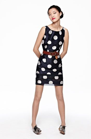 Taylor Dresses Polka Dot Sheath Dress
