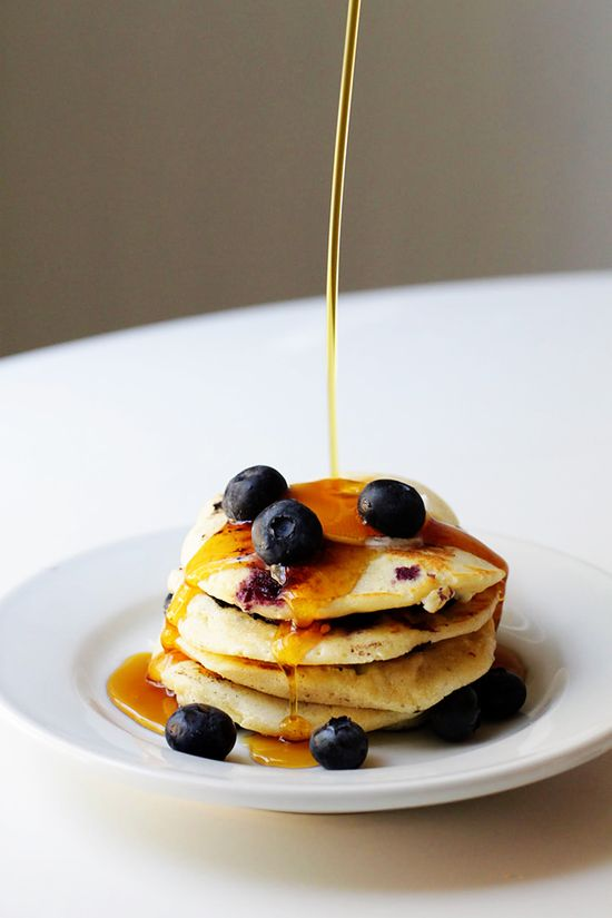 Two Tarts: Ricotta Pancakes with Blueberries