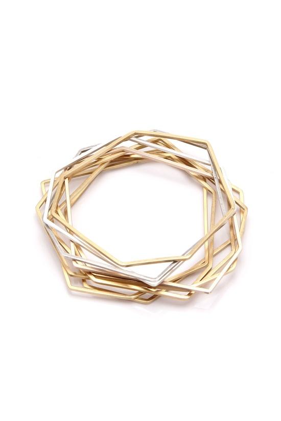 Gold Geometric Bangle Bracelets