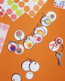 Office Supply Crafts: Key- Tag Jewelry