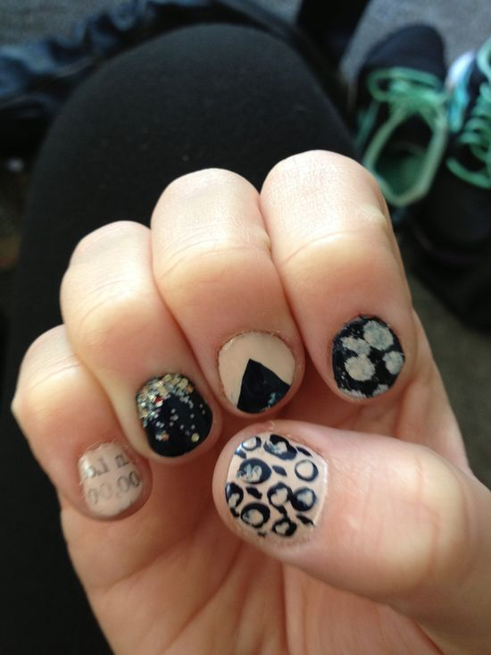 Practice makes perfect. :) my creative nails