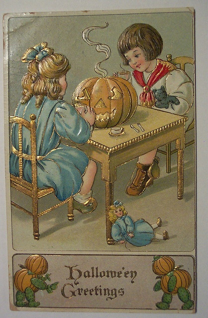 Vintage Halloween Postcard      B.W. by riptheskull, via Flickr