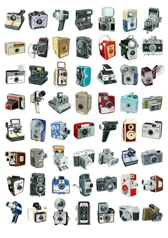 56 Camera Drawings #illustration #art