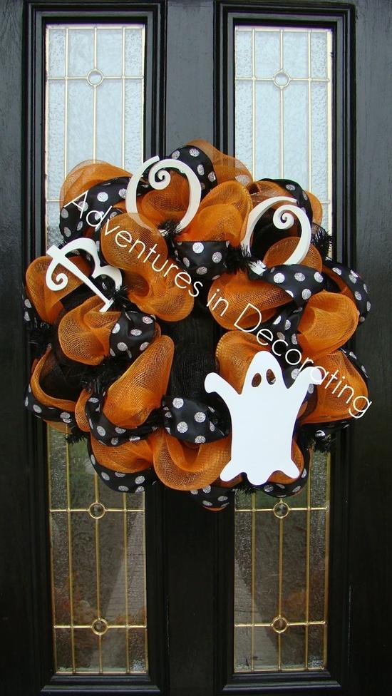 Welcometohalloween fun halloween wreath - Interesting diy halloween wreaths home ...