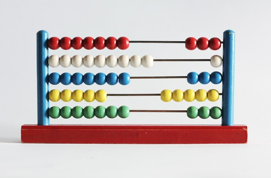 Wooden Toy Abacus Primary Colors by MiesEnScene on Etsy. $38.00 USD, via Etsy.
