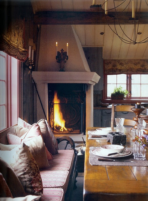 fireplace....love it and the table