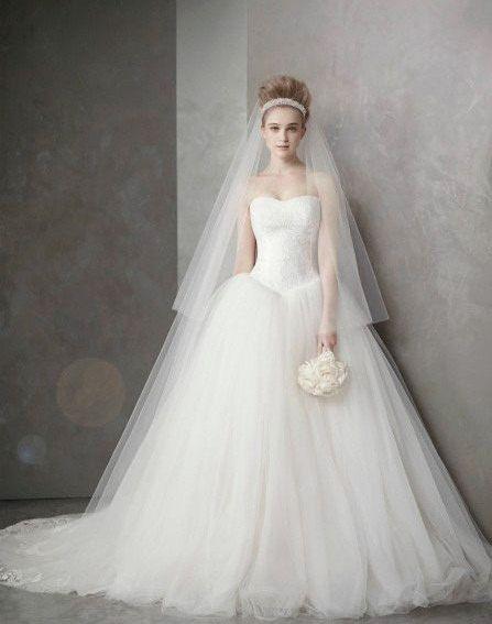Designer Inspired Wedding Dress- Kate. $1,150.00, via Etsy.