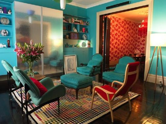 TEAL AND RED ROOM - Google Search