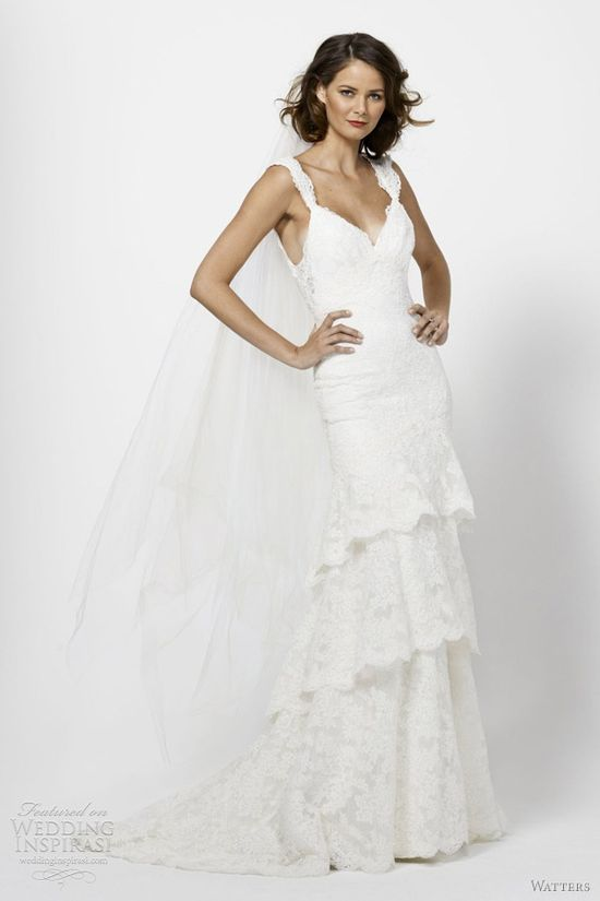Flattering lace by  Watters Bridal