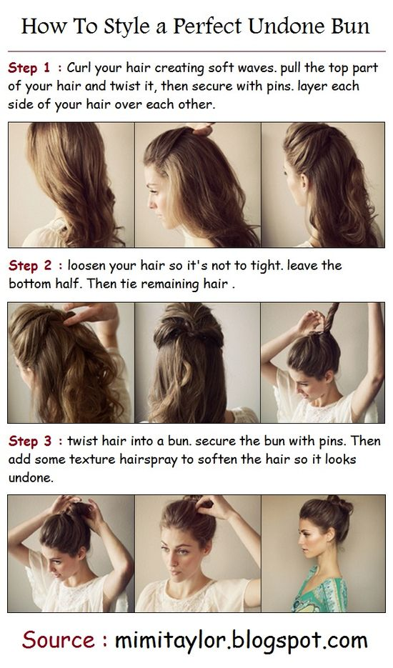 How To Style a Perfect Undone Bun: sounds counter-intuitive, but this is super simple and pretty.