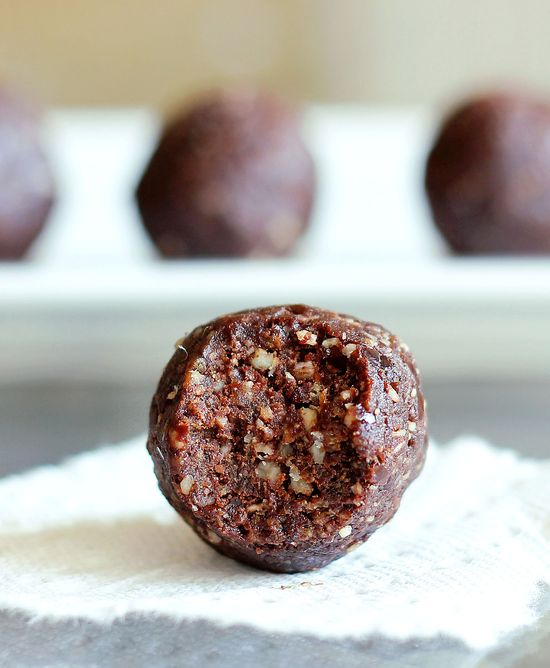 German Chocolate Fudge Bites: If you want a healthy, portable snack that does not taste healthy in the slightest, you will love these!
