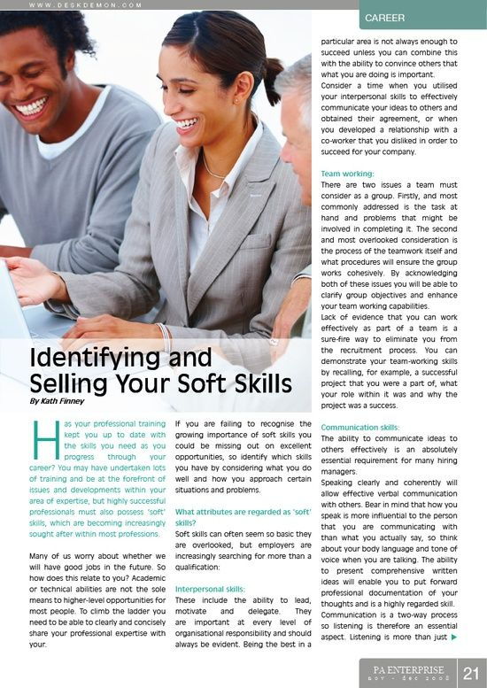 Identifying and Selling Your Soft #self personality #soft skills #softskills