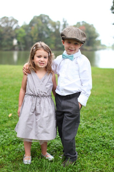 Cute! Love the flowergirl dress and hat and bow tie for the ringbearer :)