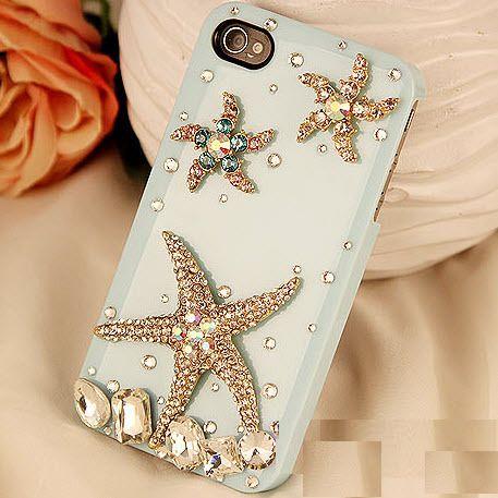 Alloy Bling Ocean Star Handmade Case for iPhone DIY Phone Shell Deco Den Kits