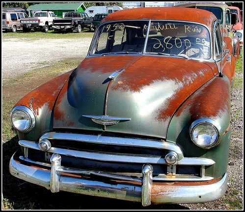Ohio ~ Yale  1950 Chevrolet project car seen along OH14 in Yale-Ravenna, Portage County, Ohio.