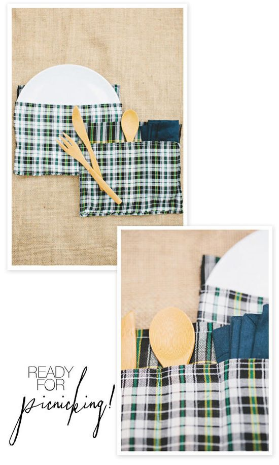 DIY Picnic Basket Sleeves for holding all the goods... Great to make and add to a picnic gift basket