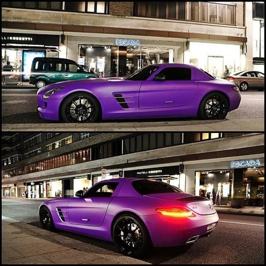 Super Cool Purple Mercedes SLS