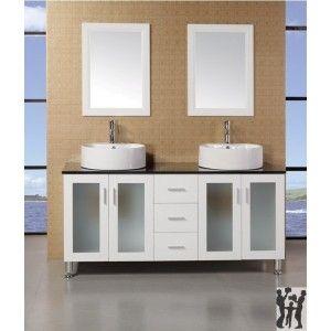 """Malibu 60"""" Single Sink Modern Bathroom Vanity in espresso finish"""