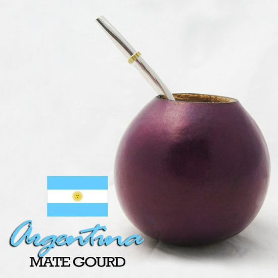 Argentina Mate Gourd Cup With Straw Brombilla Healthy Herbal Drinking Detox Loose Weight Kit 56