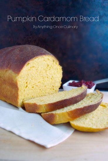 Pumpkin Cardamom Yeast Bread