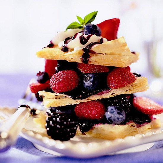 I'd love a bite of one of these flavor-packed Fresh Berry Napoleons! See more berry-filled desserts: www.bhg.com/...