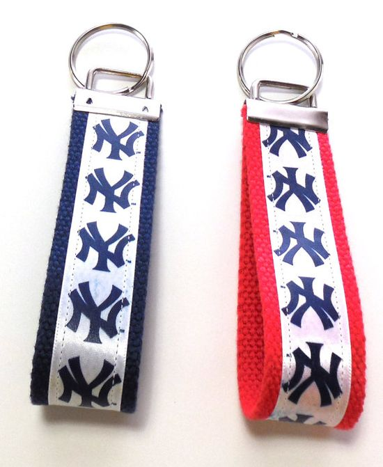 #NY #Yankees #Key #Fob #Key #Chain #Wristlet #Red or #Blue by GabbysQuiltsNSupply, $5.00