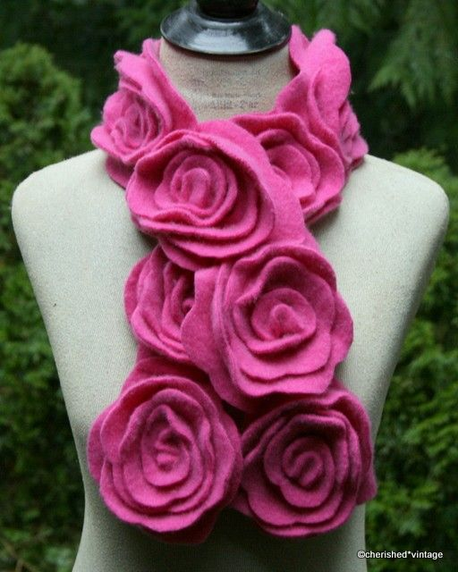 from cashmere sweater.  You can do that with all the rose tutorials that are on Pinterest.