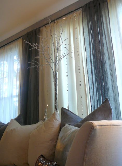 Holiday at Home Decor by Lynda Quintero-Davids #FocalPointStyling #Holiday #Christmas #Decorating #Simple #Windows #Branch