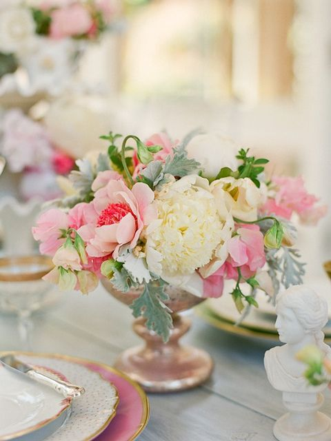 Camille Styles peony centerpiece