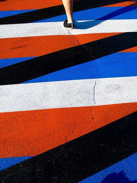 geometric crosswalk in houston