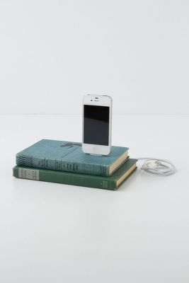 Vintage Book iPhone Charger  Anthropologie