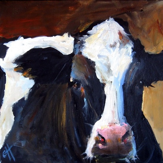 Hadley the Holstein...original painting by Cari Humphrey