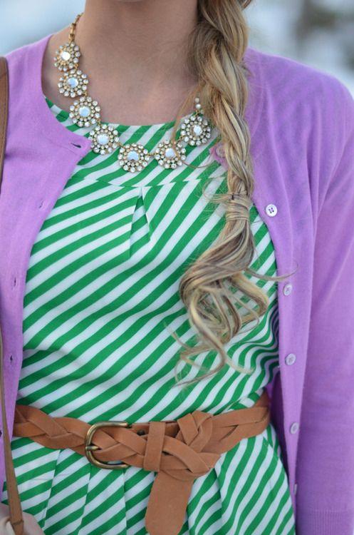colors. stripes. accessories. love!