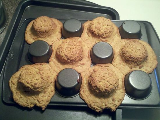 YES!!! bake cookie dough on bottom of muffin pan to make bowls for ice cream