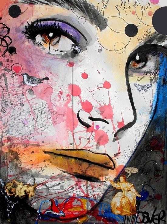 """Saatchi Online Artist: Loui Jover; Paper, 2013, Mixed Media """"kaleidoscope"""""""