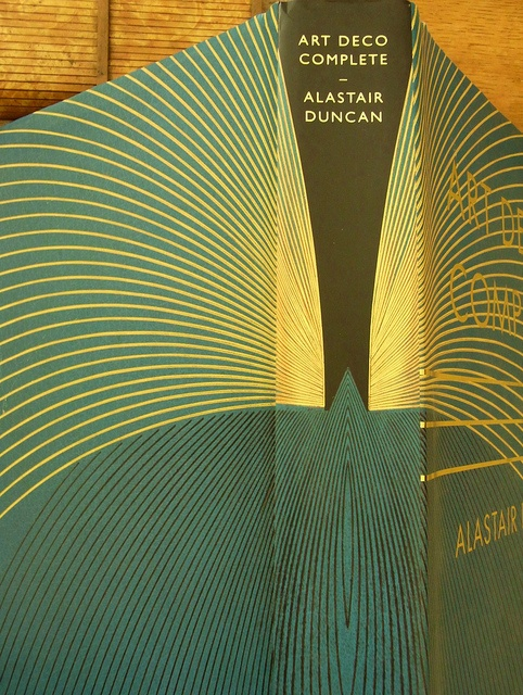 """Beautiful book cover: """"The Definitive Guide to the Decorative Arts of the 1920s and 1930s"""" by Alastair Duncan. #artdeco #bookcover #design #packaging #gold #green"""